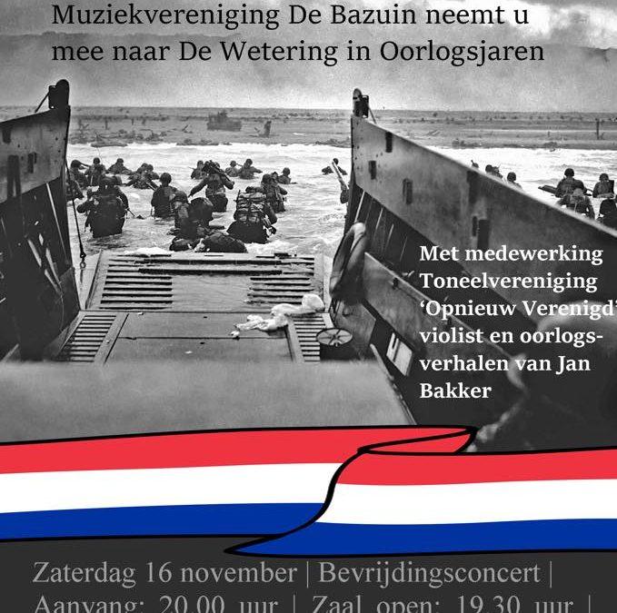 """Concert """"Strijd en Vrijheid"""" van De Bazuin"""